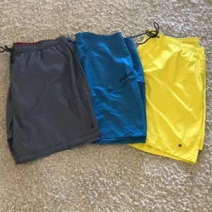 Lot of Quicksilver Tommy Nautica swim trunks